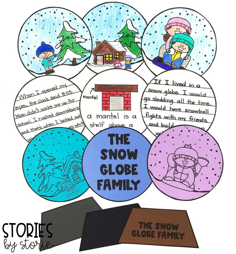 After reading The Snow Globe Family, students can create their own snow globe using these craft templates. They can even add a piece of writing.
