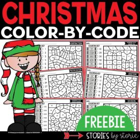 Christmas Color by Code Freebie