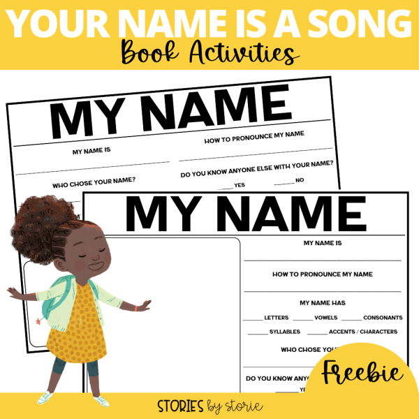 Your Name is a Song by Jamilah Thompkins-Bigelow and Luisa Uribe is a celebration that reminds us of the beauty, history, and magic behind names. I want to share a few name activities you can pair with this book. These would be perfect for Back to School activities, but they can be used any time of year.
