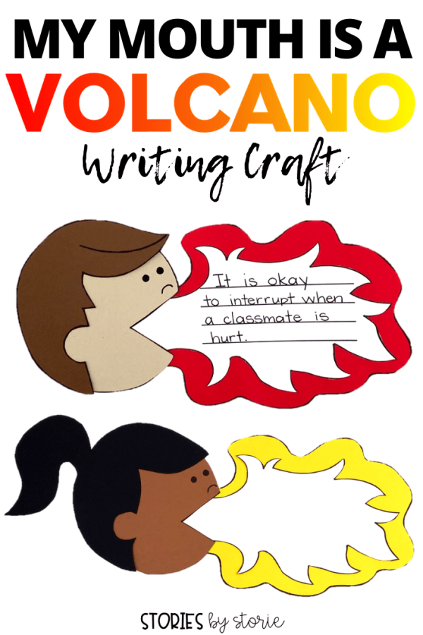 After reading My Mouth is a Volcano by Julia Cook, students can create a volcano mouth kid craft. This would be perfect for your back-to-school lessons or anytime your class needs a reminder about when it's okay to interrupt.
