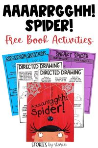 Aaaarrgghh! Spider! is a short and sweet story about a spider who finds a family. Here are a few activities you can pair with the book.