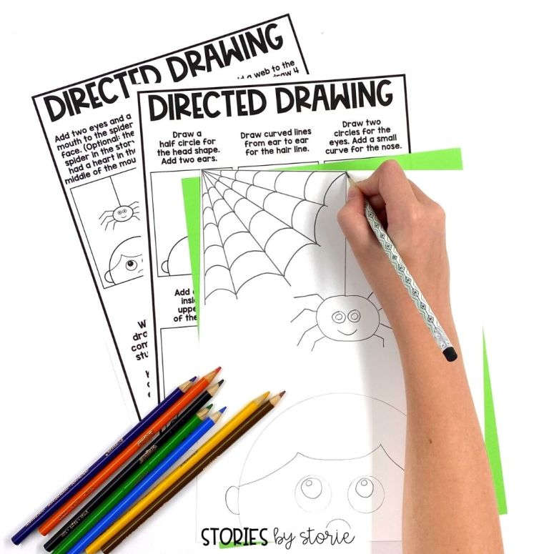 After reading Aaaarrgghh! Spider! by Lydia Monks, students can complete this directed drawing.