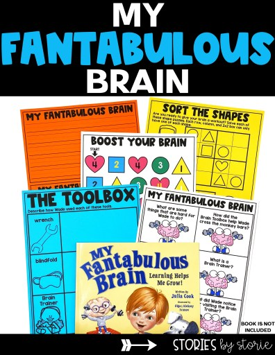 Here are several activities you can pair with My Fantabulous Brain by Julia Cook.
