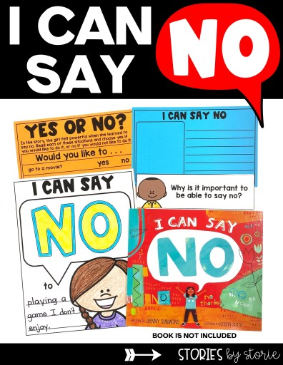 I Can Say No is a great book to show kids that it's okay to say no without feeling guilty. Here are a few activities to pair with this book.