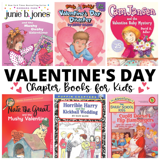 These Valentine's Day chapter books would be great to share as a read aloud or to read with your small group during class.