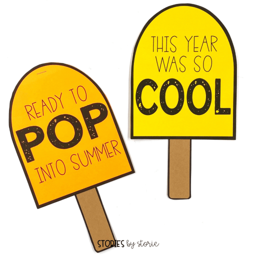 Whether your students want to reflect on the school year or look ahead to summer, this popsicle craft is a great way to capture their writing.