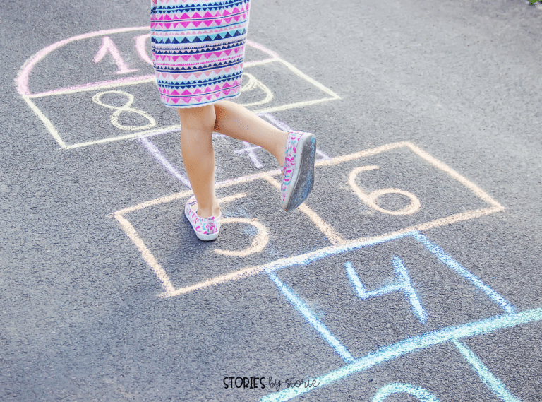 Need to get your students up and moving? Take them outside to play hopscotch. As students reach the number where the rock landed, they must name the doubles fact before they can pick up the rock and return to start.