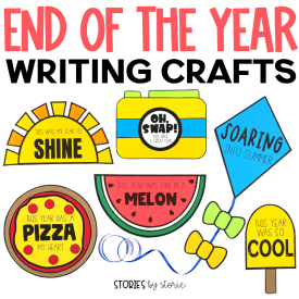 You've spent months teaching, building community, and watching your students grow in many ways. You've worked so hard and now it's time to finish the school year in a fun way with these end of the year writing crafts! These are a great tool to use as students reflect on the school year and get ready for summer break.