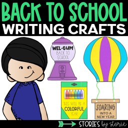 Start the school year in a fun way with these back to school writing crafts! These are a great tool to use as students share their excitement, hopes, and dreams for the upcoming school year.