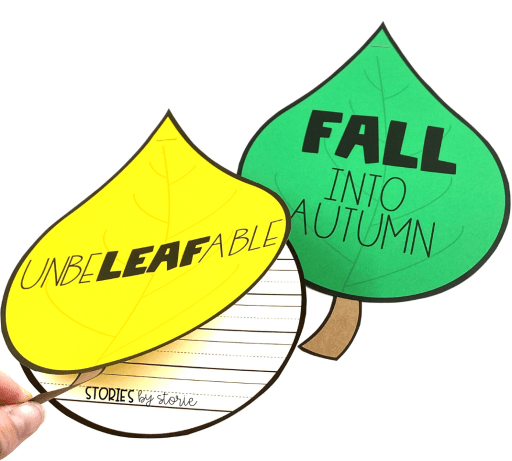 As you watch the leaves change colors outside, your kids can celebrate all things fall with this leaf writing craft.