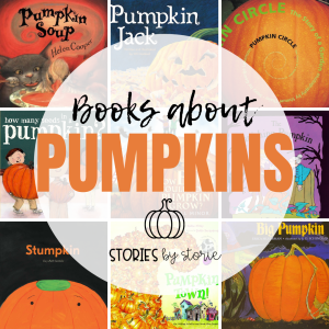 Whether you want to share books about the pumpkin life cycle, memorable pumpkin characters, or just want to embrace this season, here are some of my favorite pumpkin books for kids.