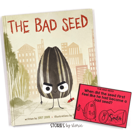 These questions will help guide the discussion as you read The Bad Seed. Students can also respond to these questions in writing. I have a set of questions for each book in The Food Group series by Jory John and Pete Oswald.