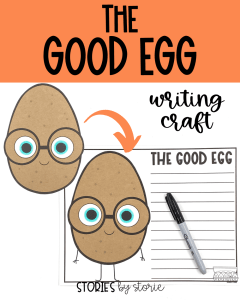After reading The Good Egg by Jory John and Pete Oswald, your students can bring the character to life with this writing craft. There are several prompts to choose from, but students can always choose their own.