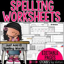 Spelling Worksheets 10 Words