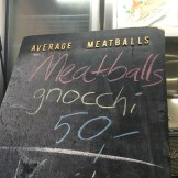 Overpriced meatballs and gnocchi