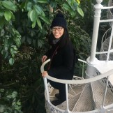 Me on the spiral staircase in The Palm House