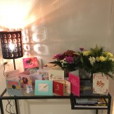 Birthday cards and flowers