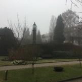 Heavy fog descended onto the hospital grounds