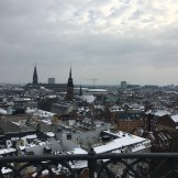 View of snow covered Copenhagen form the Round Tower