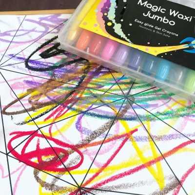 REVIEW: Invitation to Create with Lunables' Magic Waxi Jumbo Gel Crayons