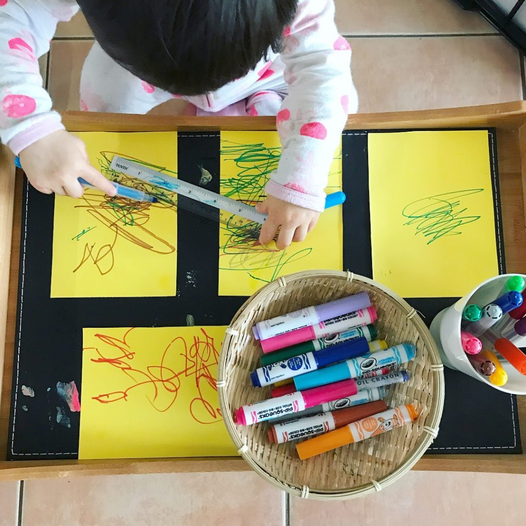 art supplies - markers and paper