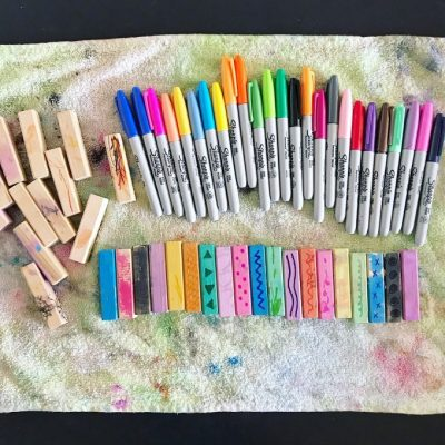 Invitation to Add a Second Layer of Art Medium (Coloured Sharpies) over an Existing Art Project – Day 31/31 Days of Invitation to Create