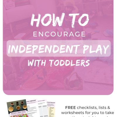 How to Encourage Independent Play With Toddlers