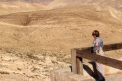 A woman was enjoying the solitude at Shobak Castle