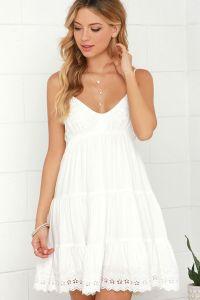 White Summer Dress EE78  Regardsdefemmes