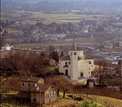 La vecchia casa di Andrea Zanzotto dietro il paesaggio  storieveneziane