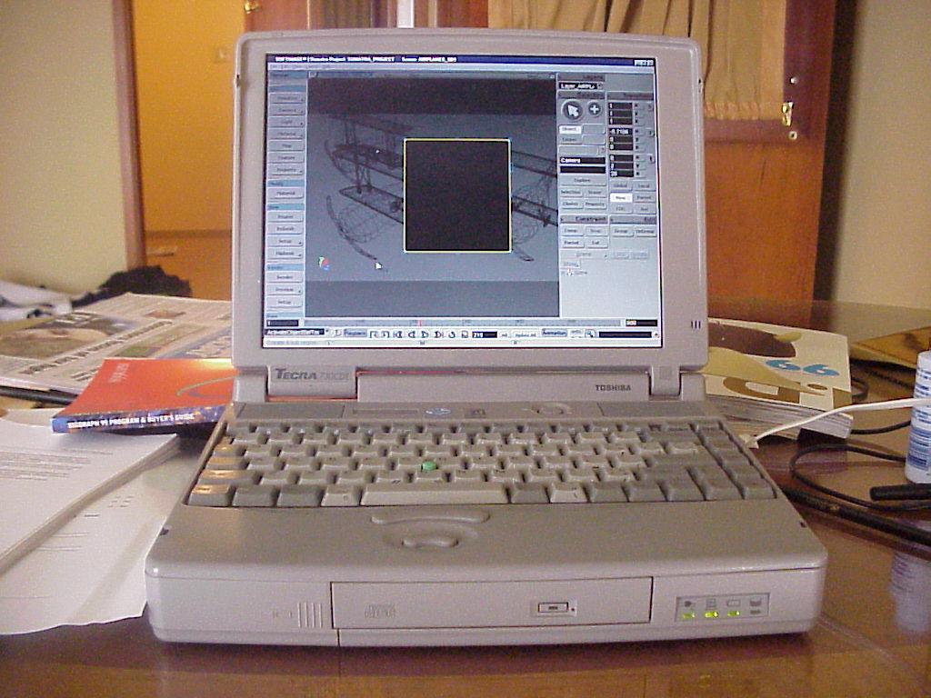 Laptop design 1981-1999. Logo, design, buildings, people