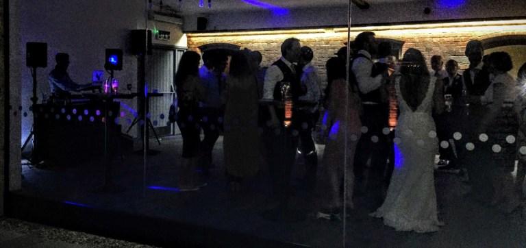 Storm DJs - Wedding through glass