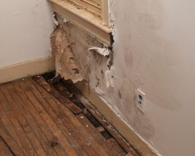 wall that needs allen water damage restoration