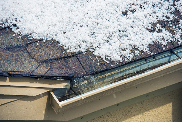 how to fix hail damage on roof