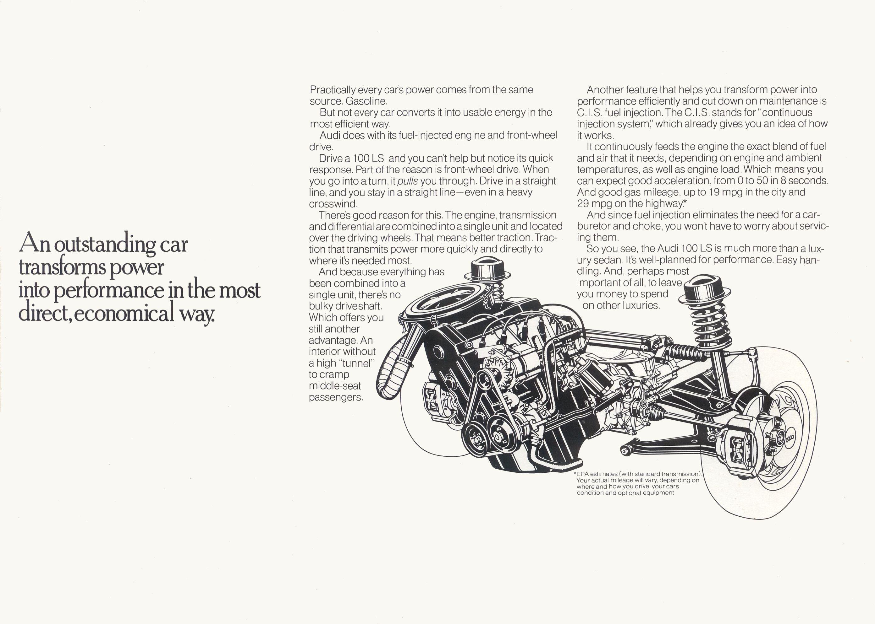 1976 Audi 100 LS brochure