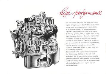 1951-56 Austin A30 Seven brochure