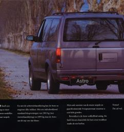 cropped by me german spec 1995 chevy astro brochure pic  [ 2450 x 1720 Pixel ]