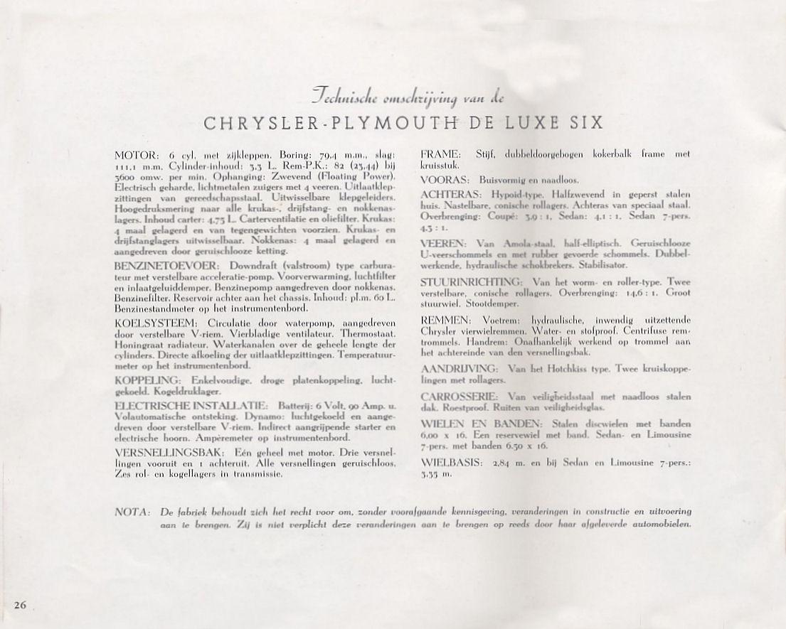 1938 Chrysler / Plymouth brochure