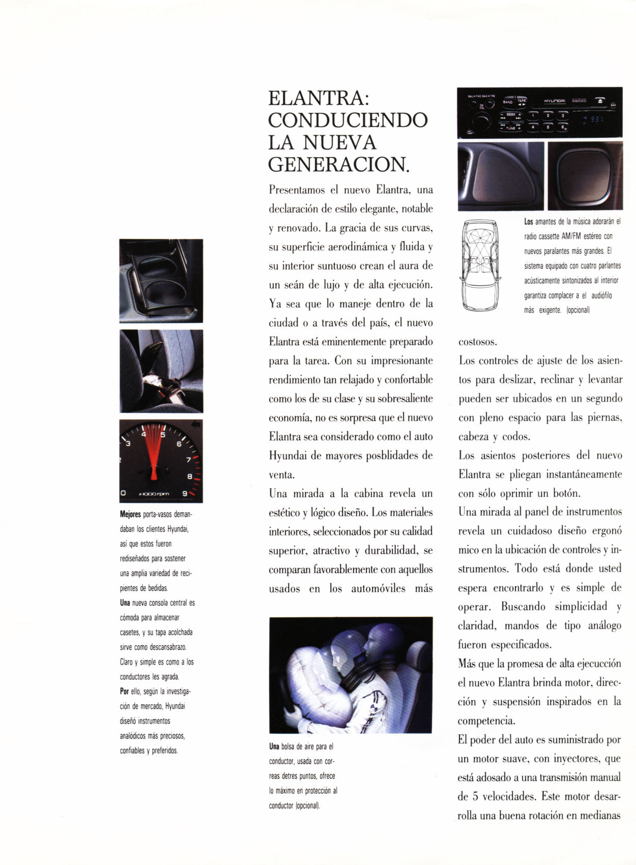 1994 Hyundai Elantra brochure