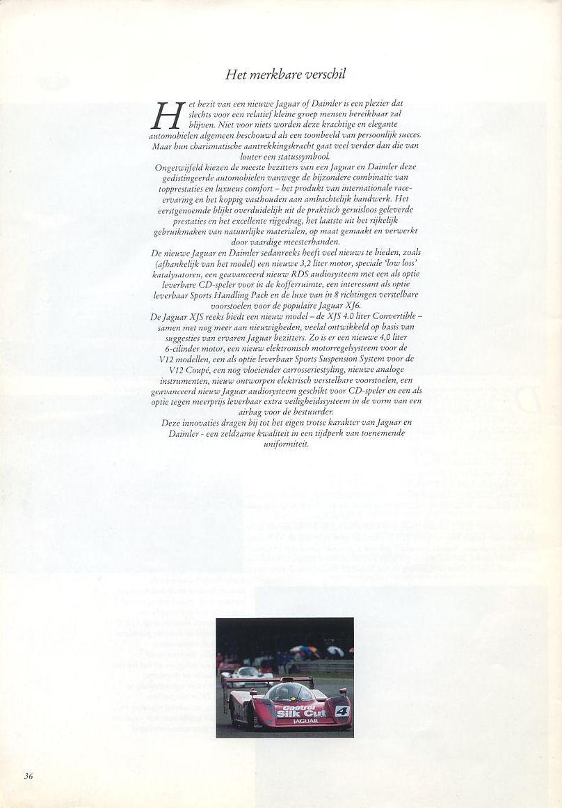 1991 Jaguar brochure