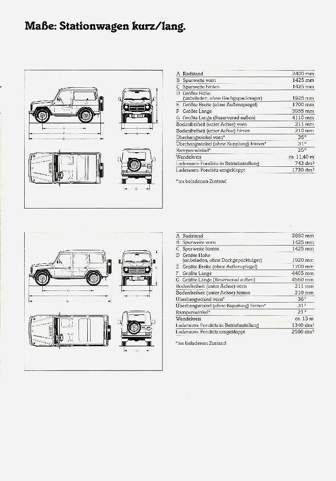 1986 Mercedes G Class brochure