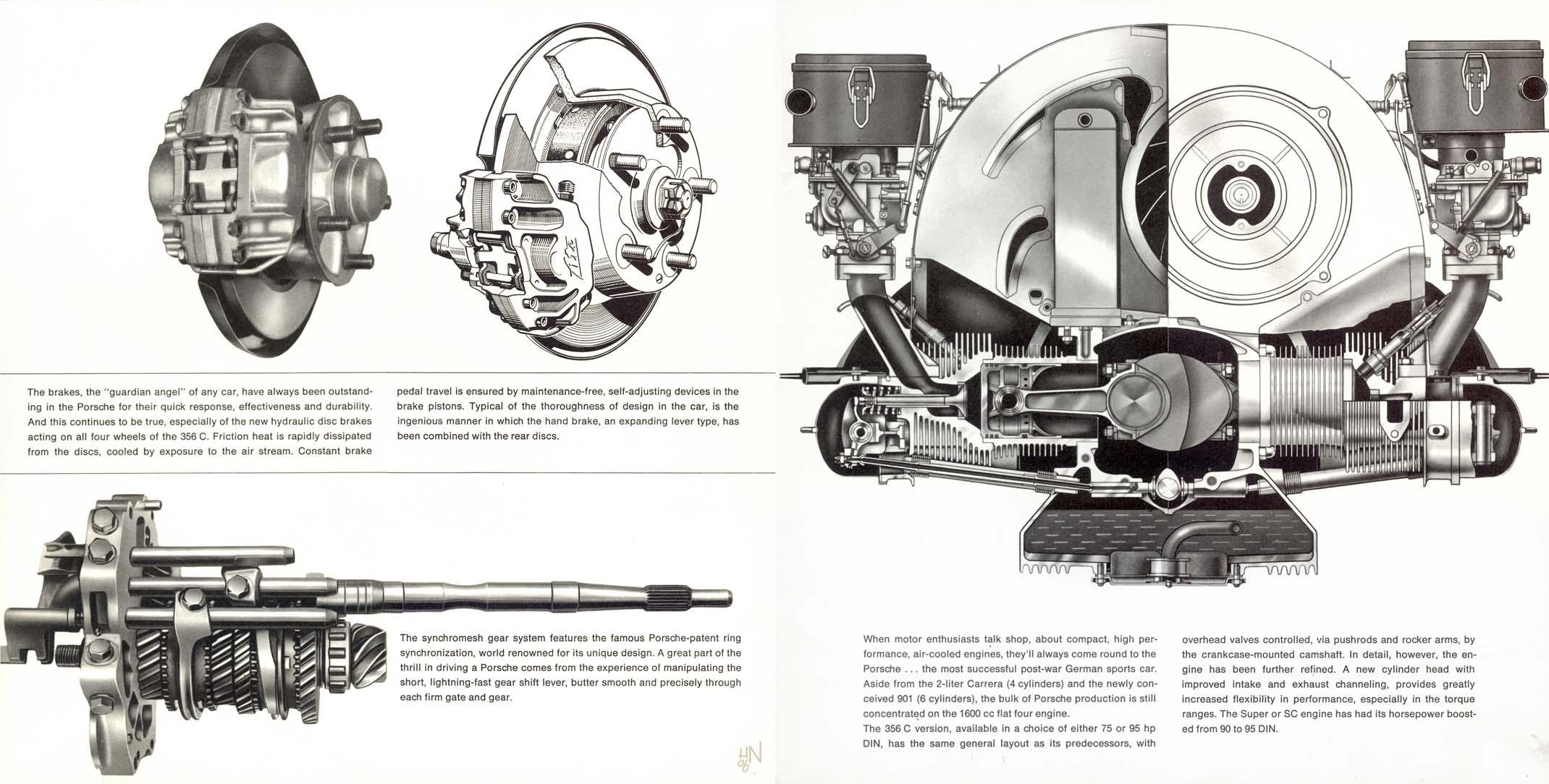 1964 Porsche 356 C brochure