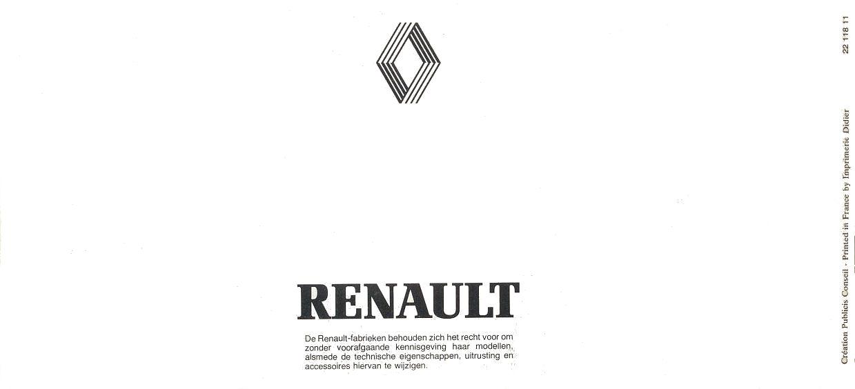 Renault 1983 brochure