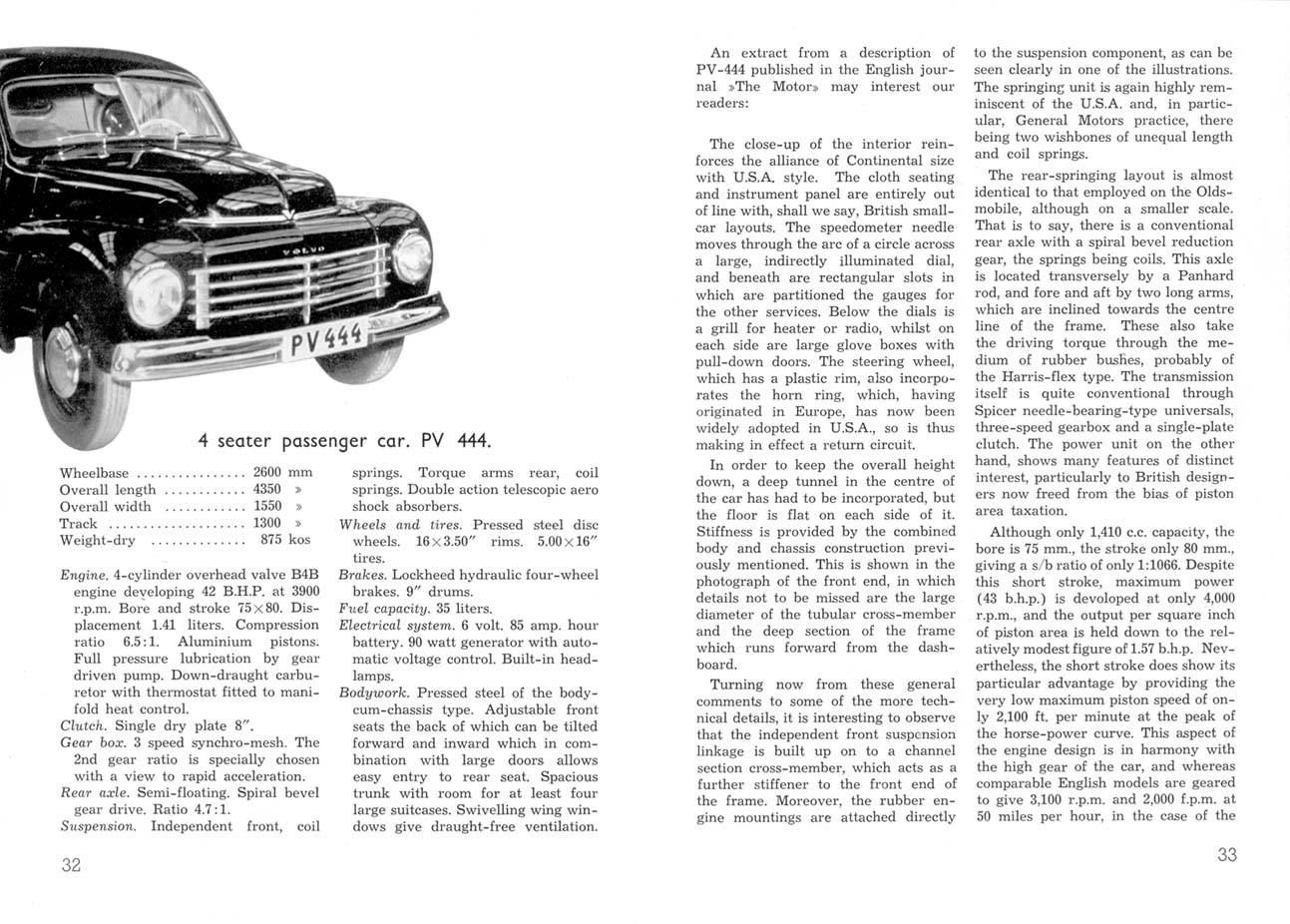 1945 Volvo Review brochure