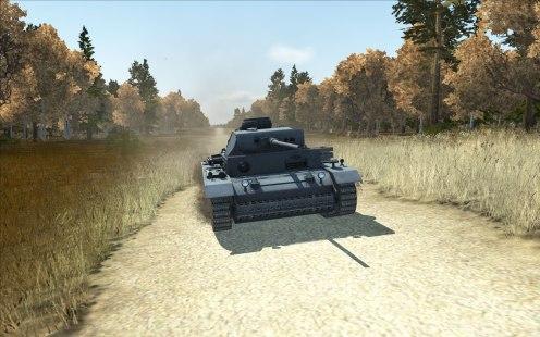 German PzKpfw III Ausf. L driving towards the battle