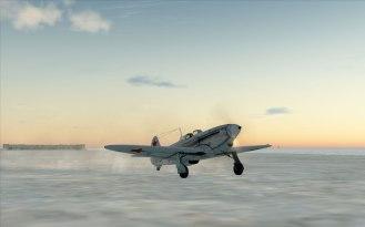 Yak-1B parked on a snowy field