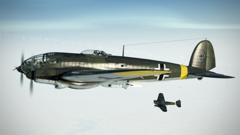 The He111H-16 sports more powerful defensive guns and a heavier bombload