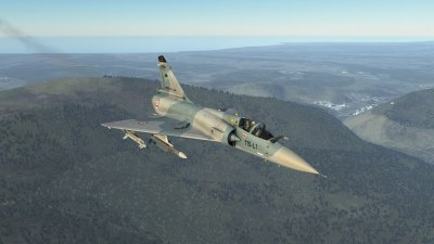 Flying level in a Mirage 2000