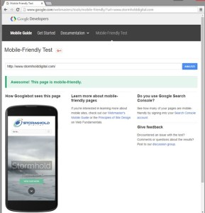 Google Mobile-Friendly Test Image