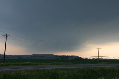 Wall Cloud at Big Lake, Missouri, June 7, 2009